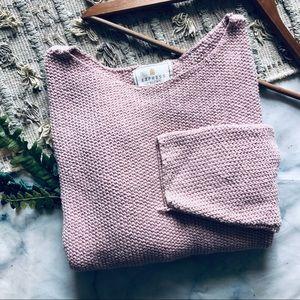 Express Vintage Off Shoulder Chunky Sweater